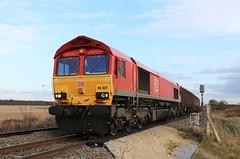 DB Cargo 66027 11th December 2019 Mauds Bridge (asdofdsa) Tags: maudsbridge railway trains locomotive dbcargo drax sky trackside
