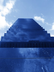 up to the sky (Darek Drapala) Tags: sun sky blue stairs city monument town urban history panasonic poland polska panasonicg5 warsaw warszawa lumix light