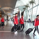 UAE National Team arrives to hamad airport 25-11113