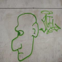 Koper (derpunk) Tags: street streetart grey green black wall head man graffiti koper slovenia