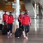UAE National Team arrives to hamad airport 25-11097