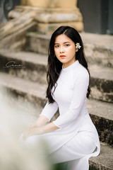 CHOW9019 (Call me CHOW) Tags: happy dress beauty blond female long hair carefree young women wavy fashion model beautiful people portrait ao dai aodai girl hanoi vietnam sunny yearbook smilling smile sunset lookbook pretty posing face