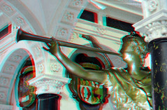 Tomb Willem van Oranje Nieuwe Kerk Delft 3D (wim hoppenbrouwers) Tags: anaglyph stereo redcyan tombwillemvanoranje nieuwekerk delft 3d tomb willemvanoranje monument grafmonument mausoleum