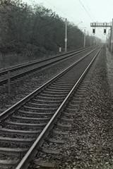 Schienen zum Horizont 1.12.2019 (rieblinga) Tags: berlin lichterfelde ost schienen gleise zum horizont 1122019 analog revue ac4 p1 agfa apx 400 adox rodinal 150