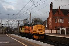 "Colas Rail Class 37/0, 37219 ""Jonty Jarvis 8-12-1998 to 18-3-2005"" (37190 ""Dalzell"") Tags: colasrail orangeyellowblack ee englishelectric type3 growler tractor class37 class370 37219 jontyjarvis8121998to1832005 d6919 northwestern wigan"