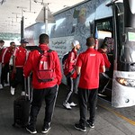UAE National Team arrives to hamad airport 25-11145