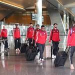 UAE National Team arrives to hamad airport 25-11099