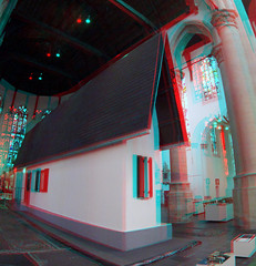 Narrow House in Oude Kerk Delft 3D GoPro (wim hoppenbrouwers) Tags: anaglyph stereo redcyan narrowhouse oudekerk delft 3d gopro