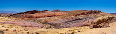spectacular colorful landscape (kleiner_eisbaer_75) Tags: park colors fire state nevada valley farben felsen travel pink usa nature coral landscape rocks colorful stones ngc natur canyon steine landschaft reise pano