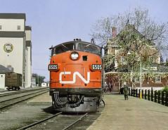 Dauphin MB Sunday May 21st 1971 0950CST (Hoopy2342) Tags: train railroad railway passenger station elevator grainelevator dauphin manitoba man