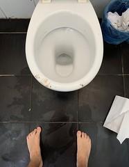 👣 in public restrooms (urcajo) Tags: barefeet feet barefooted toilet restroom public barefoot filthysoles