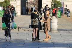 models (archgionni) Tags: ragazze girls strada street gente people ridere luce light ombre shadows bici bike colori colours torino italy