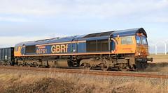 GBRf 66761 11th December 2019 Mauds Bridge. (Wensleydale Railway Assc. 25 Years 1990-2015) (2) (asdofdsa) Tags: maudsbridge railway trains locomotive gbrf sky trackside