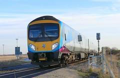 TPE 185138 11th December 2019 Mauds Bridge (asdofdsa) Tags: maudsbridge railway trains locomotive transpennineexpress tpe sky trackside