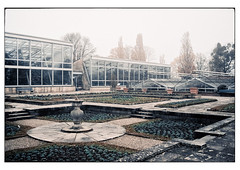 (schlomo jawotnik) Tags: 2019 november hannover herrenhäusergärten berggarten gewächshaus beete sonnenuhr bäume töpfe orchideenschauhaus tropenschauhaus analog film kodak kodakportra160 usw