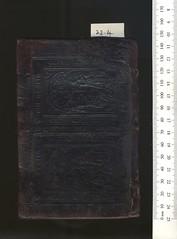 Broxb. 23.4 — Dialogus ... de perfectione cordis. (rare.books) Tags: bodleian broxbourne binding ehrman dutch 16th tys calf pasteboard blindstamped panels biblical annunciation legend latin ties