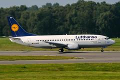 D-ABER (PlanePixNase) Tags: hamburg ham eddh fuhlsbüttel airport aircraft planespotting lufthansa boeing 737 737300 b733 733