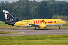 D-AGEE (PlanePixNase) Tags: hamburg ham eddh fuhlsbüttel airport aircraft planespotting hapaglloyd express hlx boeing 737 737300 b733 leipzig halle händel bach 733