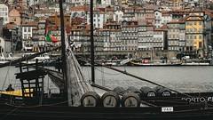 - O RABELO - (Ruben Lopo) Tags: fujifilm fuji fujilove xt2 xf1855mm rubenlopo porto portugal vilanovadegaia gaia boat river douro wine barrels city cityscape