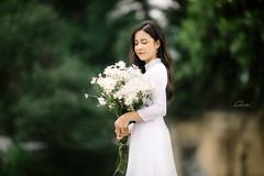 CHOW8026 (Call me CHOW) Tags: happy dress beauty blond female long hair carefree young women wavy fashion model beautiful people portrait ao dai aodai girl hanoi vietnam sunny yearbook smilling smile sunset lookbook pretty posing face