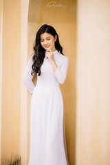 CHOW8245 (Call me CHOW) Tags: happy dress beauty blond female long hair carefree young women wavy fashion model beautiful people portrait ao dai aodai girl hanoi vietnam sunny yearbook smilling smile sunset lookbook pretty posing face