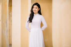 CHOW8239 (Call me CHOW) Tags: happy dress beauty blond female long hair carefree young women wavy fashion model beautiful people portrait ao dai aodai girl hanoi vietnam sunny yearbook smilling smile sunset lookbook pretty posing face