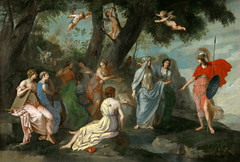 Minerva with the Muses [c. 1640-1645] - Jacques Stella (gunnr_lp) Tags: classicist greekmythology minerva