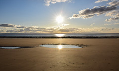 Sun, Sea & Sand (Andy.Gocher) Tags: andygocher canon100d nikon d3500 seascape uk wales southwales treathmawr southerndown dunravenbay sea sand sunset reflection double clouds sky