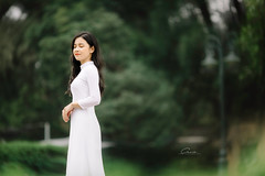 CHOW8032 (Call me CHOW) Tags: happy dress beauty blond female long hair carefree young women wavy fashion model beautiful people portrait ao dai aodai girl hanoi vietnam sunny yearbook smilling smile sunset lookbook pretty posing face