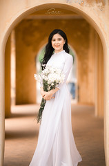 CHOW8172 (Call me CHOW) Tags: happy dress beauty blond female long hair carefree young women wavy fashion model beautiful people portrait ao dai aodai girl hanoi vietnam sunny yearbook smilling smile sunset lookbook pretty posing face