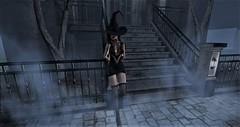 Dark Nights (cleosl2019) Tags: darknights secrets lonely waitingfortonight halloween blackdress mystery