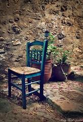 Monemvasia-Greece (mary.th) Tags: street urban chair alley pots plants flowers travel monemvasia greece stairs