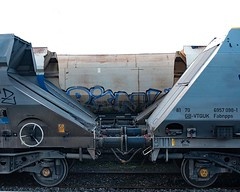 73 of Year 6 - coupled (I'm Tim Large) Tags: train trains wagon two buffers 365 73 fuji fujifilm x70 bristol stokegifford