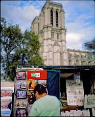 Notre-Dame, still . .   (Plaubel Makina 67) (Guy Baylacq) Tags: f28 plaubel makina67 velvia50 fullframe paris street thisbizarresummer 120 fuji 6by7