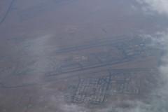 Over Kuwait International Airport, October 15th 2018 (Southsea_Matt) Tags: kwi okbk kuwaitinternationalairport kuwait a7beu qr007 boeing 7773dzer canon 80d october 2018 autumn windowseat inflight