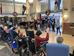 Edison, NJ Operation Legacy (Travis Manion Foundation) Tags: nbhs newbrunswickhighschool students volunteers leadership clc character course elders wheelchair veterans stretching exercise