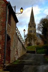 Dans les Rues de Morée (Frantce) Tags: rue street morée france église church
