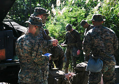 "U.S. Marines conduct a patrol brief during Samurai 2-20 on Camp Hansen, Okinawa (#PACOM) Tags: coc commandandcontrol preparation iimef training commandoperationscenter iiimarineexpeditionaryunit 3dmardiv 3dmarinedivision commstrat samurai202 usindopacificcommand ""usindopacom okinawa japan"