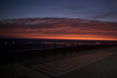 Sunrise with seagulls (remcclean) Tags: sunrise dawn red blue grey seagulls promenade cleethorpes water river humber north sea noordzee northsea merdunord nordsee