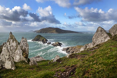 Blasket Islands, Kerry (Sean Hartwell Photography) Tags: dunmorepoint dingle peninsula kerry countykerry wildatlanticway atlantic ocean ireland sea bluesky clouds waves