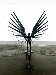 sculpture (falkmo) Tags: engel eisen weis schwarz iron white black figure skulpture art