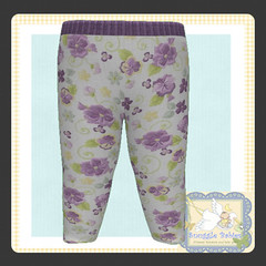 display legging purple floral (Snuggle Animesh Clothes) Tags: second life zooby animesh baby snuggle clothes dress