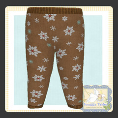 display legging Christmas Snowflakes Brown (Snuggle Animesh Clothes) Tags: second life zooby animesh baby snuggle clothes dress