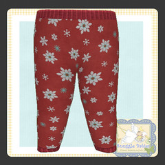display legging Christmas Snowflakes red (Snuggle Animesh Clothes) Tags: second life zooby animesh baby snuggle clothes dress