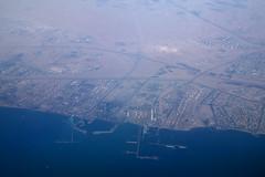 Over Kuwait, October 15th 2018 (Southsea_Matt) Tags: shuaibaport fahaheel kuwait a7beu qr007 boeing 7773dzer canon 80d october 2018 autumn windowseat inflight