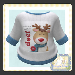 sweater knitted deer (Snuggle Animesh Clothes) Tags: second life zooby animesh baby snuggle clothes dress