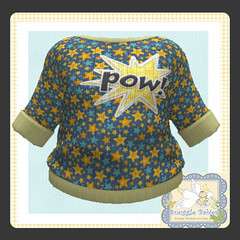 sweater knitted  stars pow (Snuggle Animesh Clothes) Tags: second life zooby animesh baby snuggle clothes dress