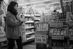 Shopping decision (Bill Morgan) Tags: fujifilm fuji xpro3 35mm f14 bw exposurex5 jpeg