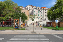 Path to Old Town (H. P. Filho) Tags: dslr apsc canoneosrebelt5i canonefs1018mmf4556isstm digitalphotoprofessional europe croatia sibenik oldtown street city buildings trees people latter stairs tp vtw