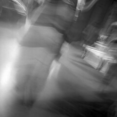 Ectoplasm - Florence - October 2019 (cava961) Tags: faded analogue analogico monochrome monocromo bianconero 6x6 superpan200 mamiya6 blur